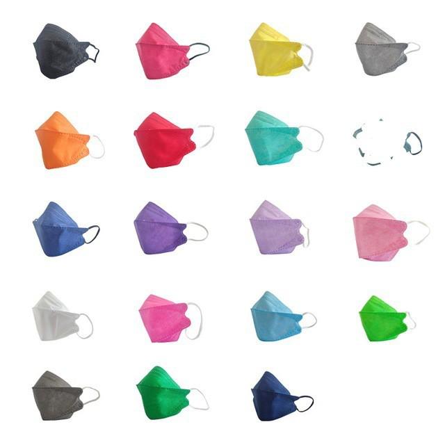 KF94魚形口罩 韓國不掉妝時尚成人口罩 韓版KF94魚型口罩 3D立體口罩 四層口罩成人口罩 折疊口罩