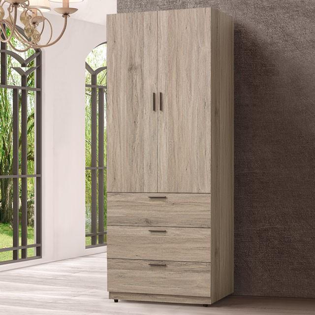 YoStyle 摩頓2.5尺三抽衣櫃 衣櫥 衣物收納 收納櫃 專人配送安裝