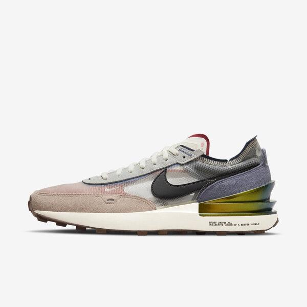Nike Waffle One [DM5446-701] 男女鞋 運動 休閒 小Sacai 透明網布 麂皮 穿搭 彩