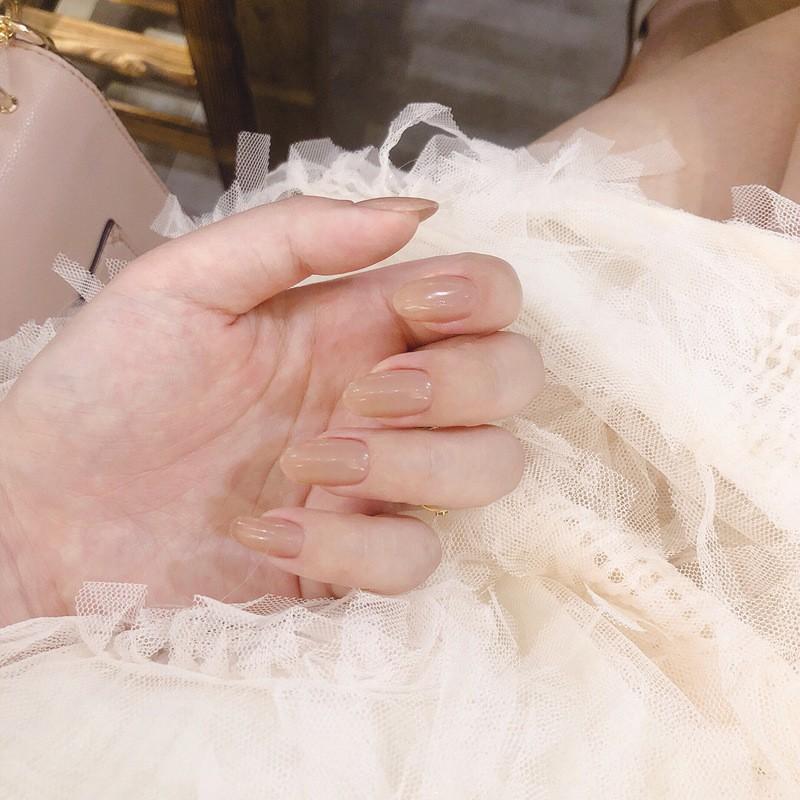 指甲貼片 一撕即貼 秒貼甲片 粉裸奶咖純色 穿戴式 可重複使用 NWP0059【買1送5配件】