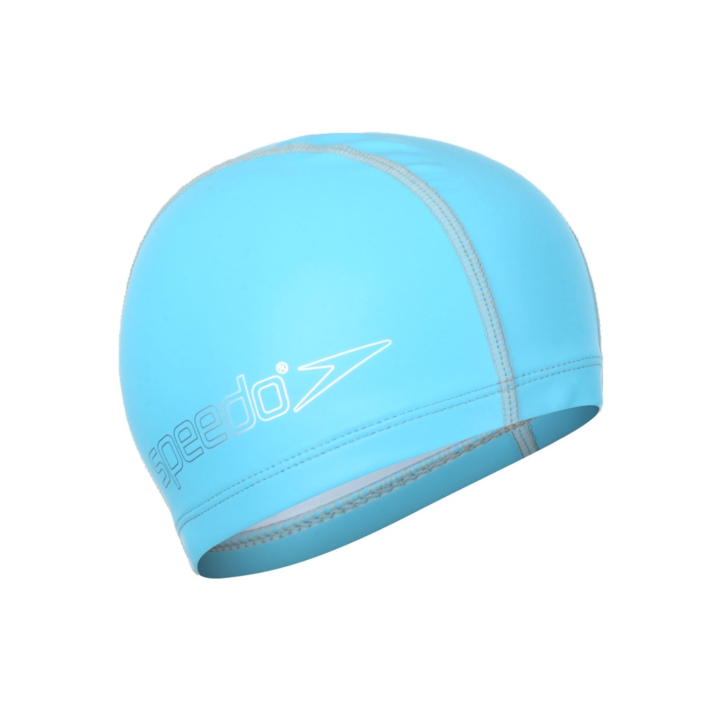 SPEEDO 兒童合成泳帽(游泳 戲水 海邊 沙灘「SD8720734604」 水藍銀