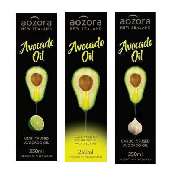 紐西蘭純淨特級初榨冷壓酪梨油(萊姆/原味/大蒜) 250ml/瓶