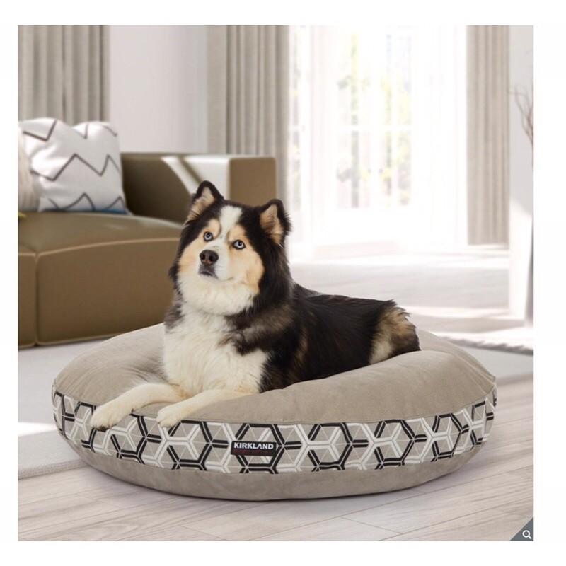 (宅配免運)可拆洗寵物床 好市多圓床 狗床 大狗床 狗床墊 大型犬 睡窩 狗窩 科克蘭42吋圓形寵物床 好市多代購 狗毯