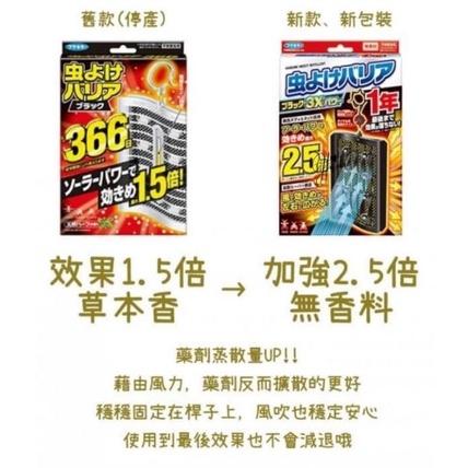 日本366新版防蚊掛片 新版.2.5倍