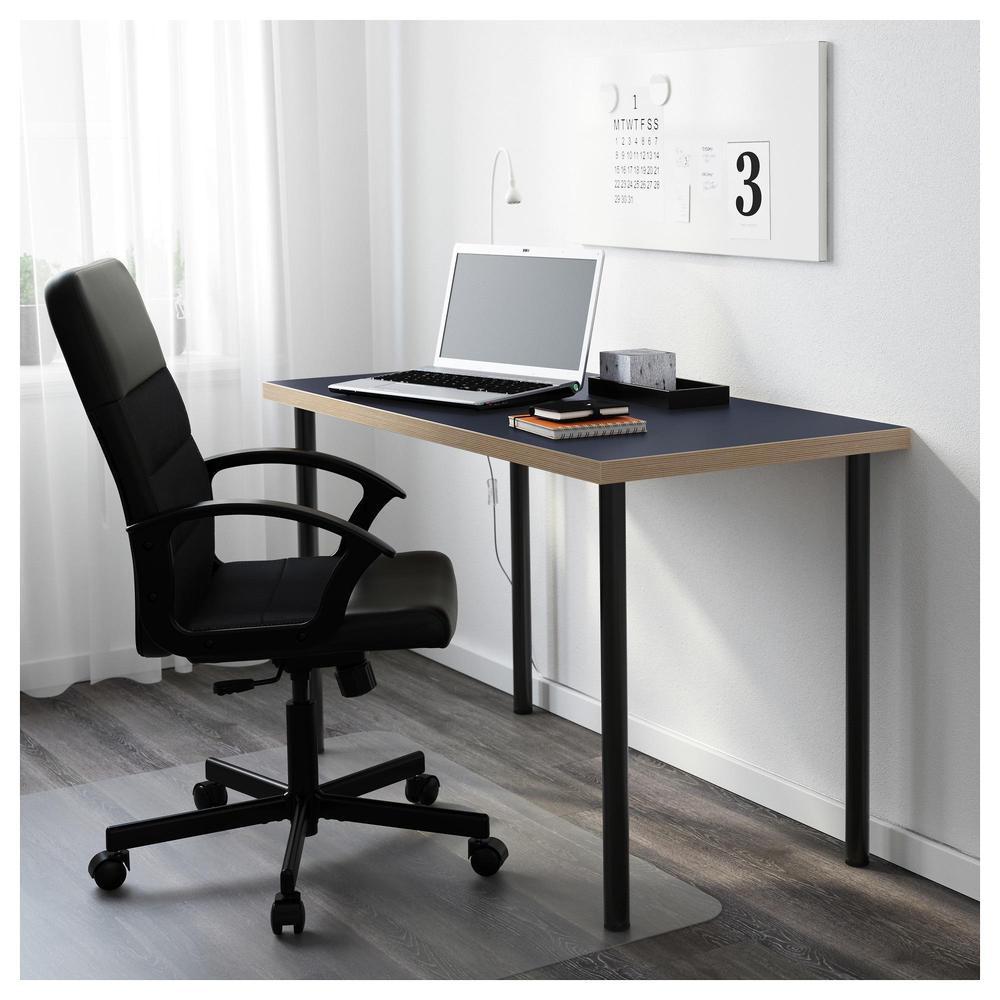 北歐工業風格IKEA宜家ADILS/LINNMON桌子書桌電腦桌工作桌/桌面藍色+桌腳黑色/二手八成新/特$680