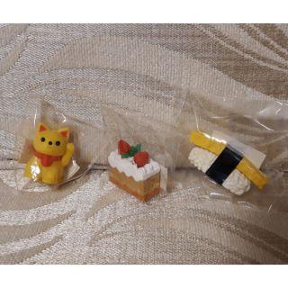 日本製 造型橡皮擦 草莓奶油蛋糕 招財貓  玉子燒握壽司 各一 可愛 橡皮擦 零賣 散裝 台北市