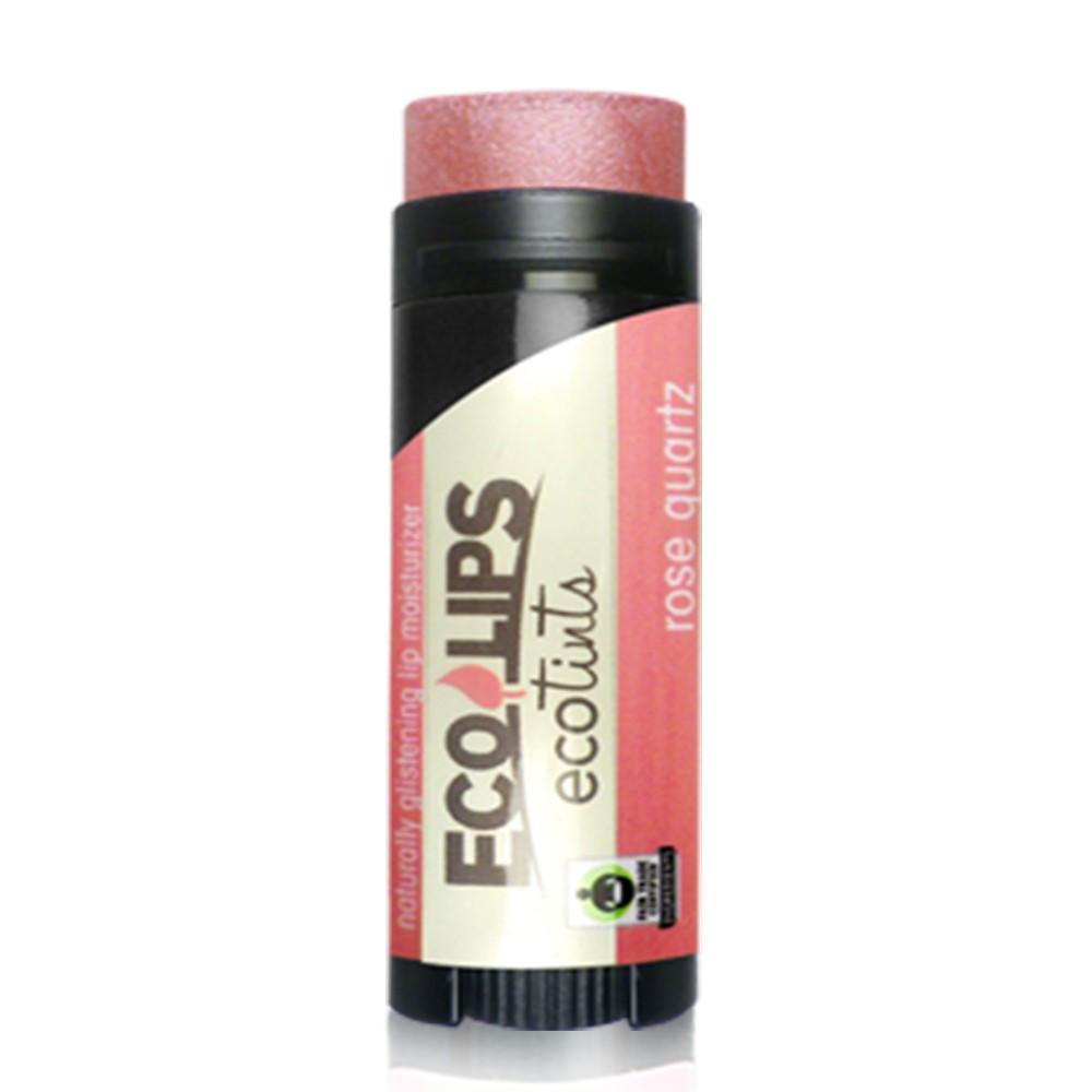 美國ECO LIPS 依蔻麗唇 天然護唇膏 超潤澤彩漾(玫瑰紅_粉膚色) _透明袋裝