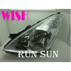 ●○RUN SUN 車燈,車材○● 全新 TOYOTA 豐田 04 05 2006 WISH 原廠型 大燈 一顆1500