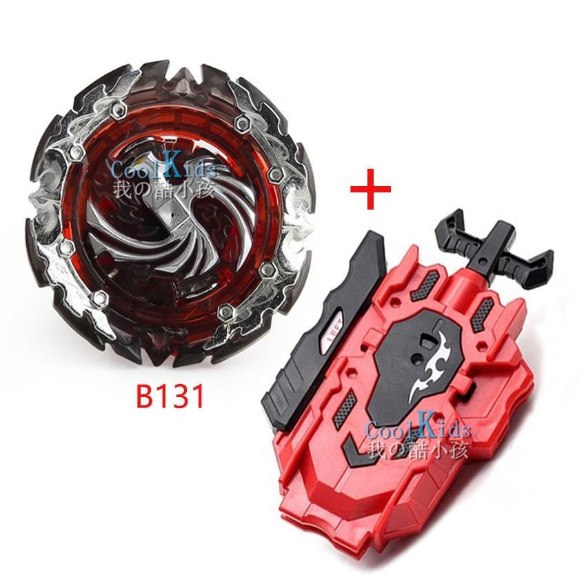 Beyblade B-131死亡鳳凰爆裂陀螺套裝 DIY合金組裝戰鬥陀螺附雙迴旋拉線發射器 男孩玩具 兒童節禮物