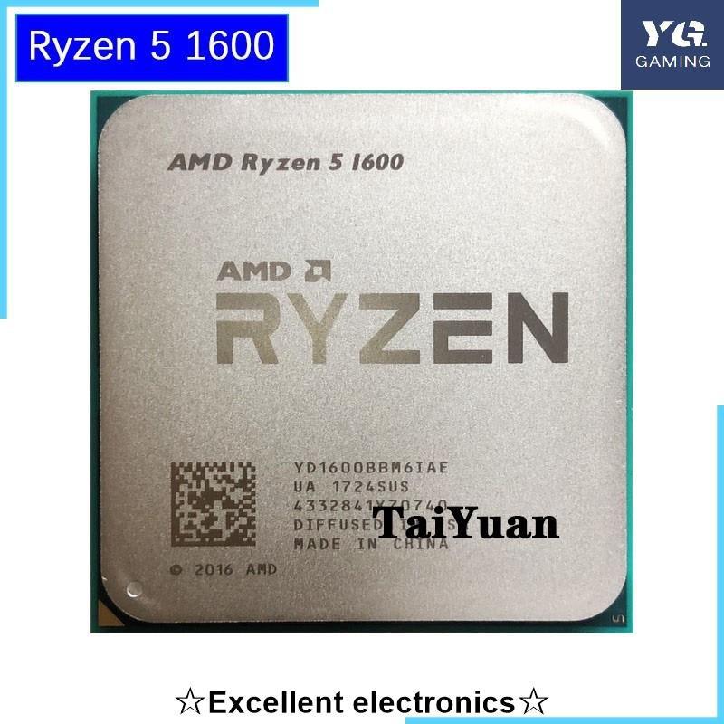 Amd Ryzen 5 1600 R5 1600 3.2 Ghz 六核十二線 65w Cpu 處理器 Yd1600Bbm