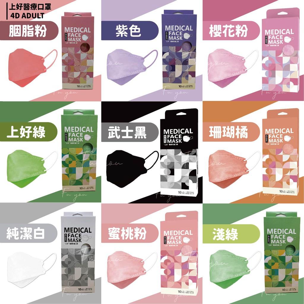 【上好生醫】KF94 韓式 成人立體口罩 魚口 醫療口罩 10入/盒