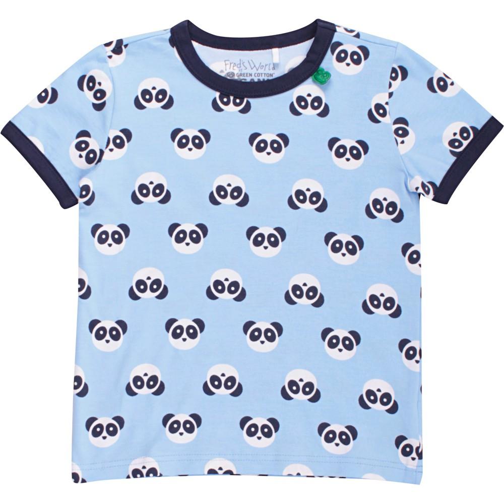 丹麥 Fred's World 水藍小小熊貓短袖上衣 80cm