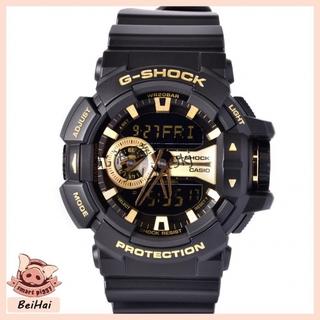 CASIO 卡西歐 G-SHOCK 黑金 防水 機械 運動手錶 金屬系雙顯時尚大型錶冠多層次錶 GA-400GB-1A9 桃園市