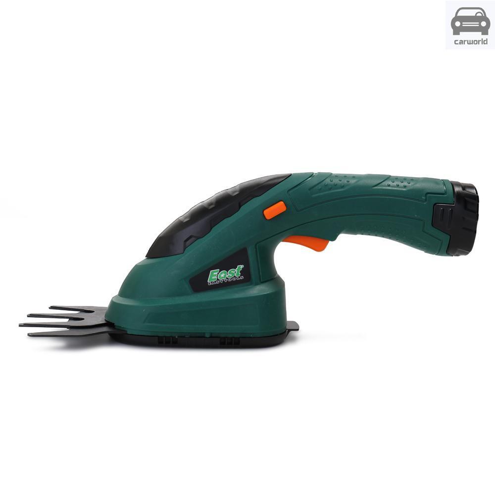 3.6V鋰電充電式二合一剪草機修枝機電動割草機打草機綠籬機發貨帶可充電鋰電池美規充電器110V 深綠色