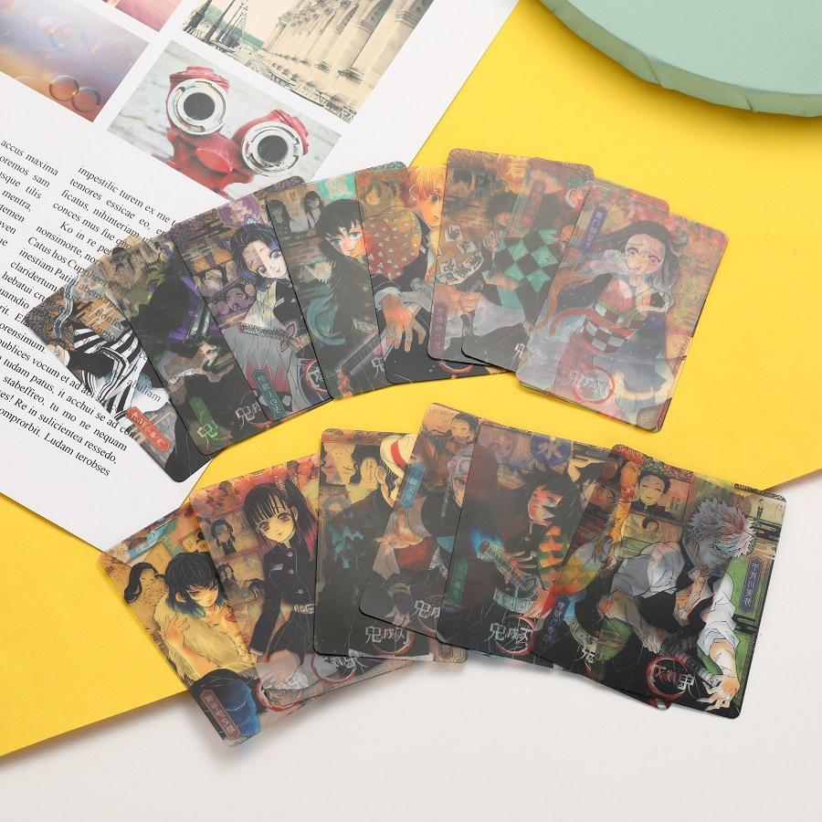 📣限時下殺🌟16入/套 鬼滅之刃PVC照片卡 卡片 照片 防水明信片 透明照片卡 透卡 收藏卡 鬼面卡漫周邊
