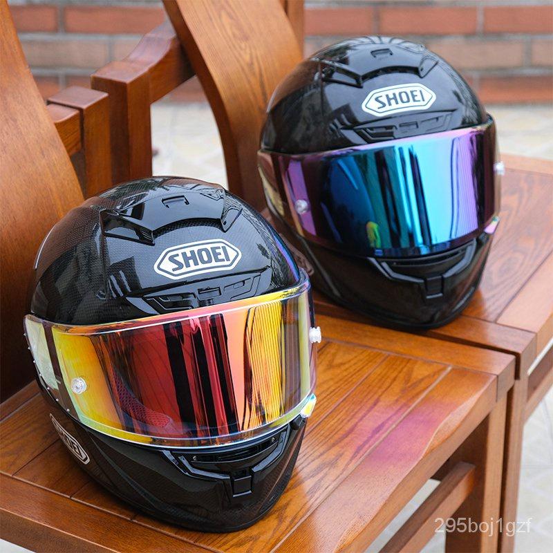摩托車SHOEI頭盔全盔X14碳纖維招財貓紅螞蟻復古馬奎斯機車男四季