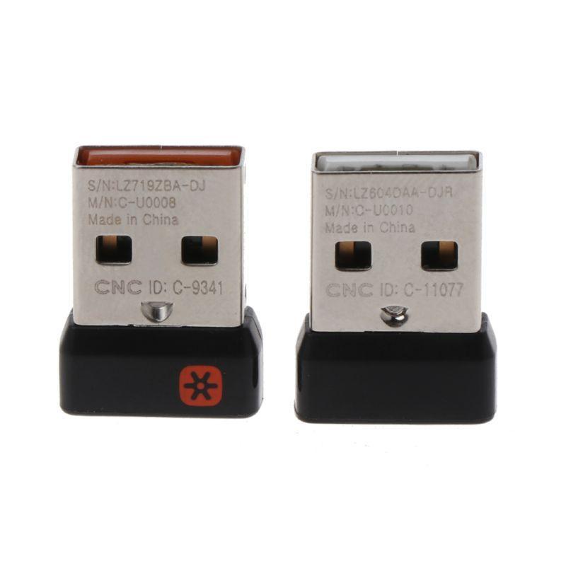 用於 logitech 鼠標鍵盤的 Sel 無線加密狗接收器統一 USB 適配器連接 6 個用於 MX M905 M95