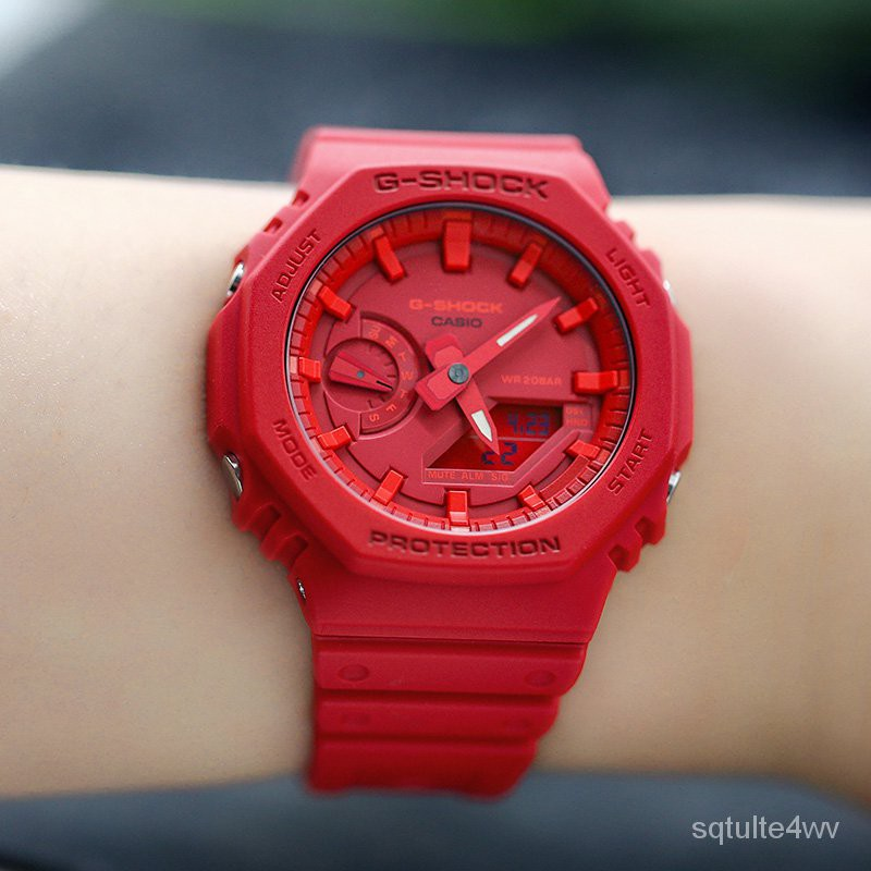 卡西歐G-SHOCK GA-2100-4A/2110SU-3A/TH-1A/THB-7A 電子男腕手錶 dZ2e