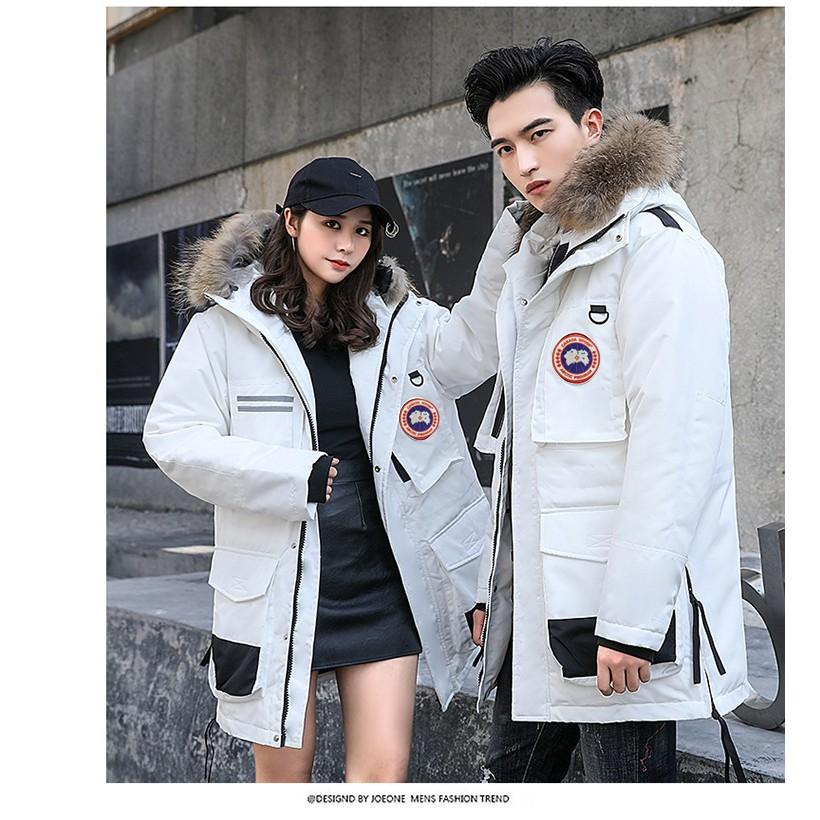 全新正品 Canada goose 加拿大鵝羽絨服 貉子真毛領羽絨外套 長款風衣 保暖防寒防風外套 情侶款 進口雪地衣