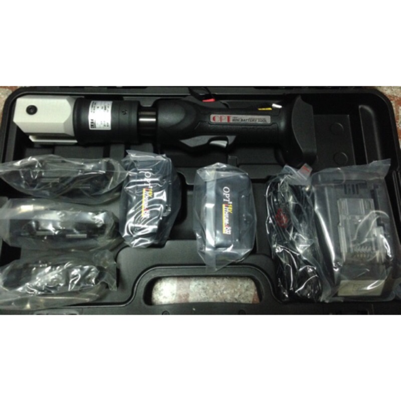 智能控制款 OPT壓接機18V鋰電充電式 不鏽鋼 水管 壓接機 可通用 牧田18V電池 4.0AH 雙電池