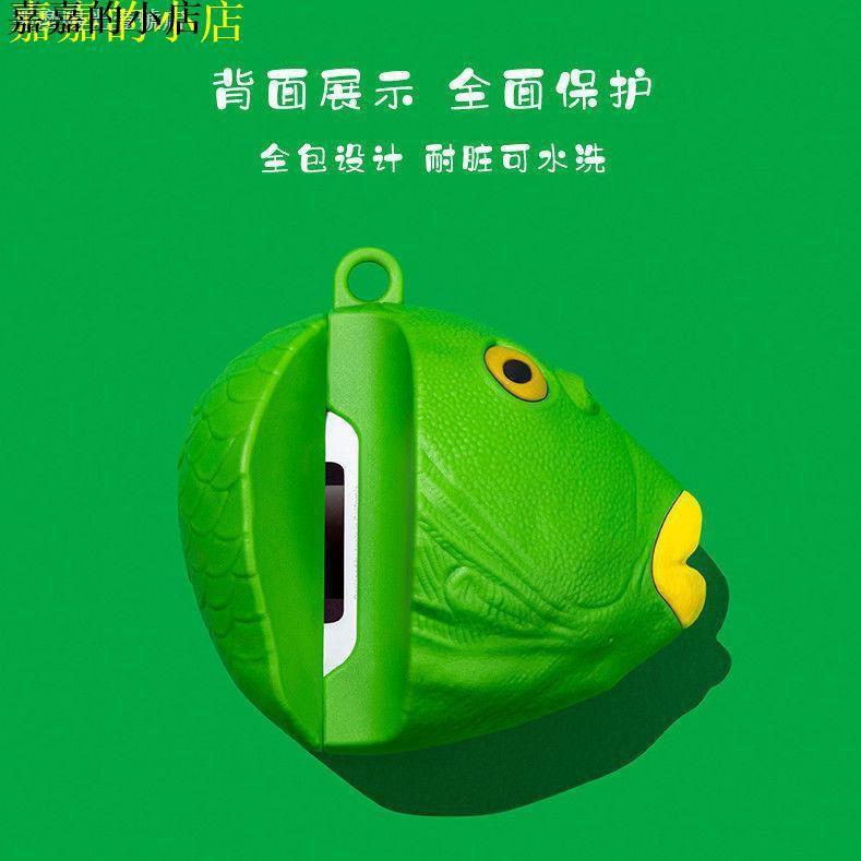 ∧▁∧✥   airpads 保護套 搞怪魚頭airpods蘋果藍牙耳機套pro硅膠保護套防摔華強北二三代軟