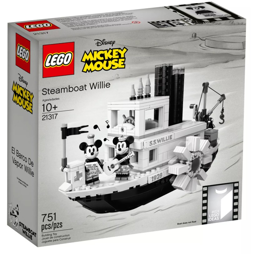 【ToyDreams】LEGO IDEAS 21317 汽船威利號 Steamboat Willie