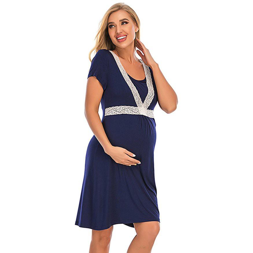 婦女的產婦護理長袍分娩浴衣母乳喂養的睡袍 潮可新品 上新