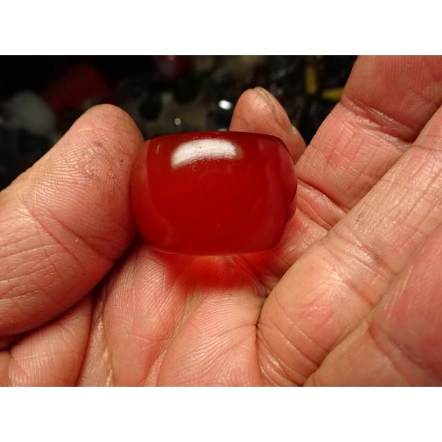 《藍金寶石玉石批發區》→〈戒指系列〉→天然冰種清透紅玉髓版戒指→A1079