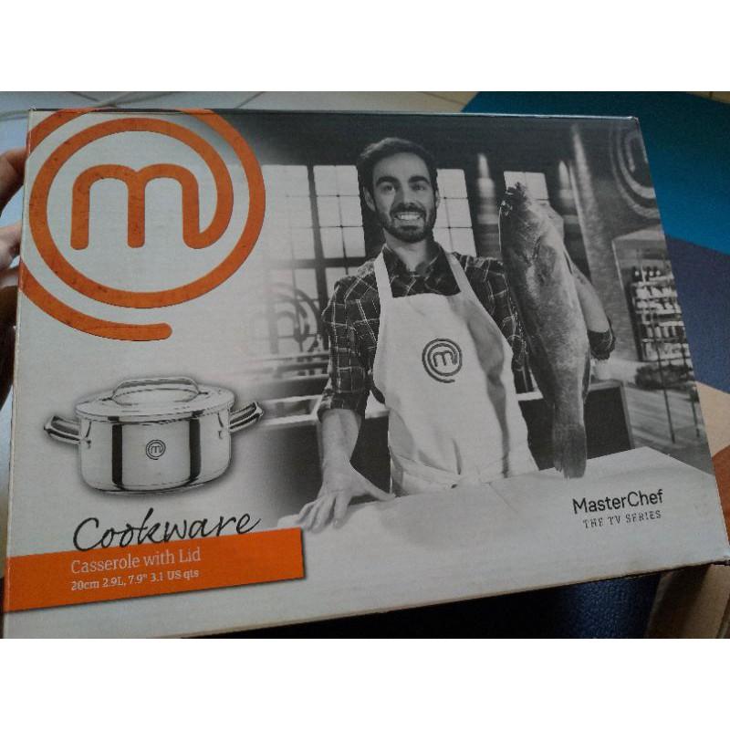 【MasterChef廚神當道】20公分不鏽鋼雙柄湯鍋(附蓋)2.9公升