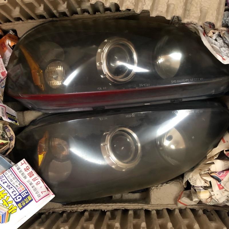 TYC 96-98 civic 6 EJ8 K8 coupe燻黑 魚眼大燈