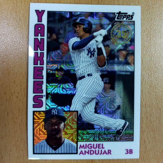 紐約洋基隊新秀三壘手 Miguel Andujar 銀包特卡