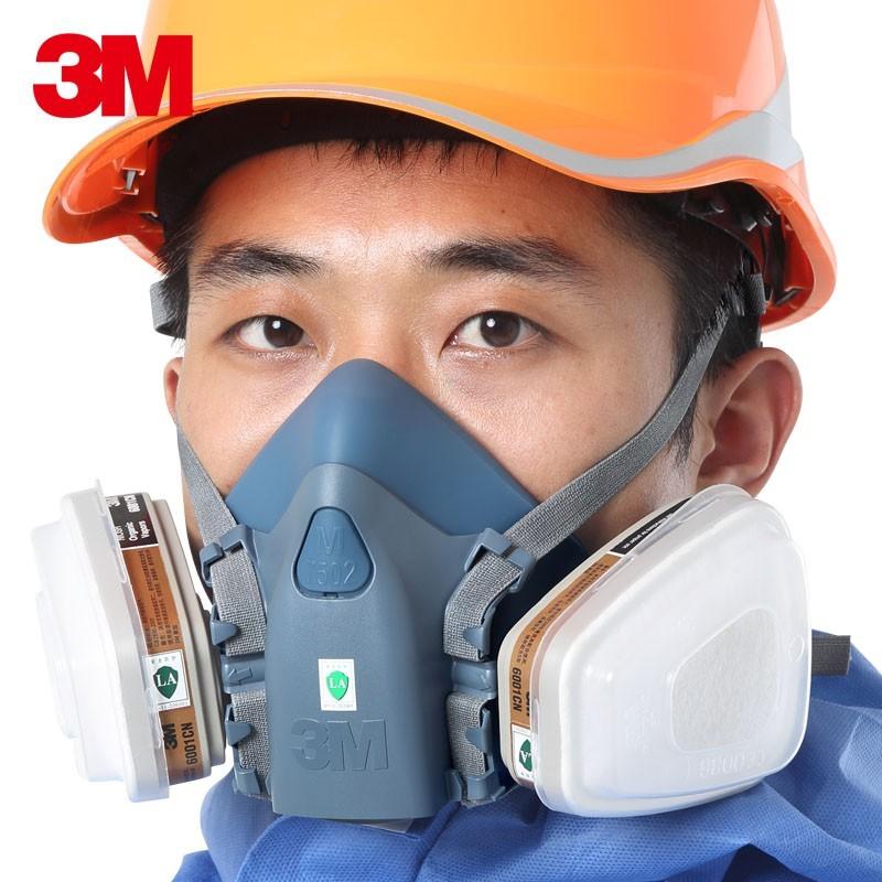 現貨!全新3M防毒面具七件套  7502防塵口罩噴漆 濾毒口罩 甲醛氣體化工煤礦活性炭面罩