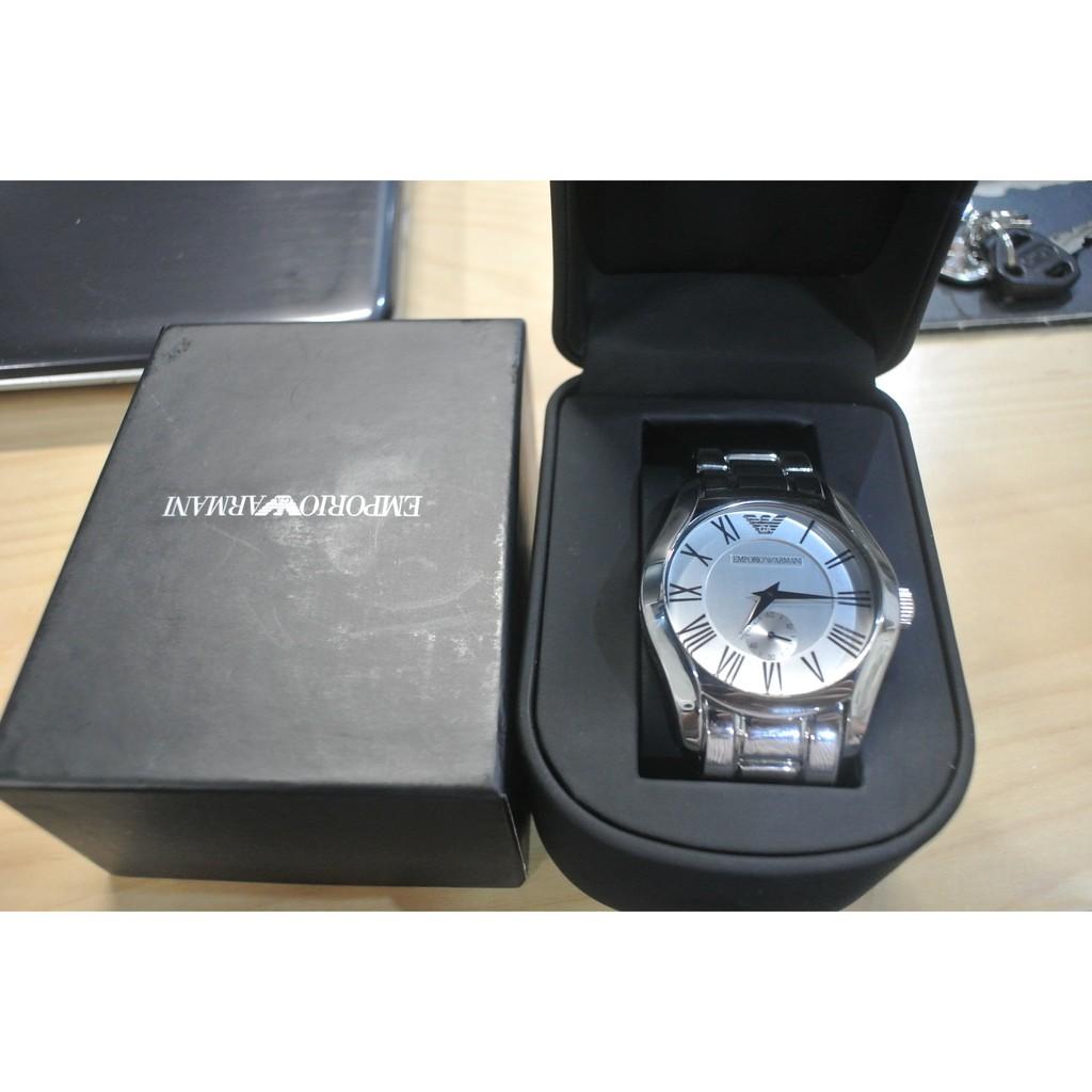ARMANI 紳士品味獨立秒圈腕錶 (銀白/鋼帶-AR0647),特價$4,799