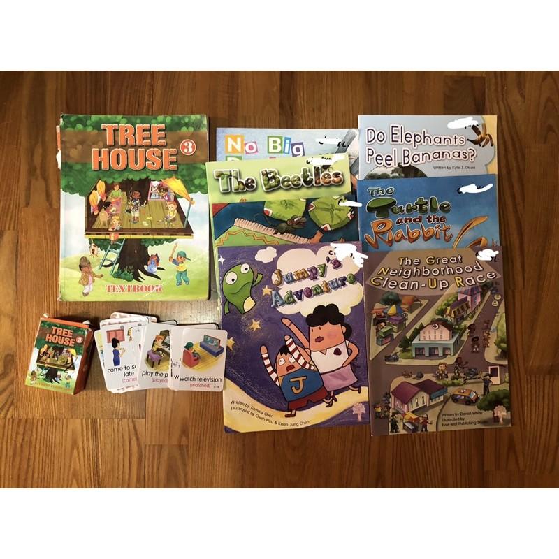 Hess 何嘉仁教材 ESL  Tree house3課本、故事書、字卡小三上學期用