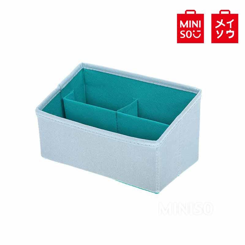 【MINISO名創優品】撞色款桌面收納盒梯形款(藍色) 置物盒 桌面收納