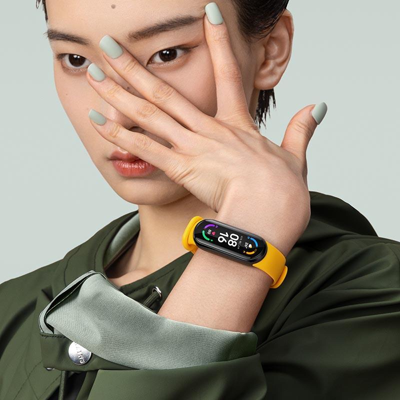 小米手環6藍牙男女運動計步器心率監測睡眠壓力防水NFC版智能手表2984 可打統編