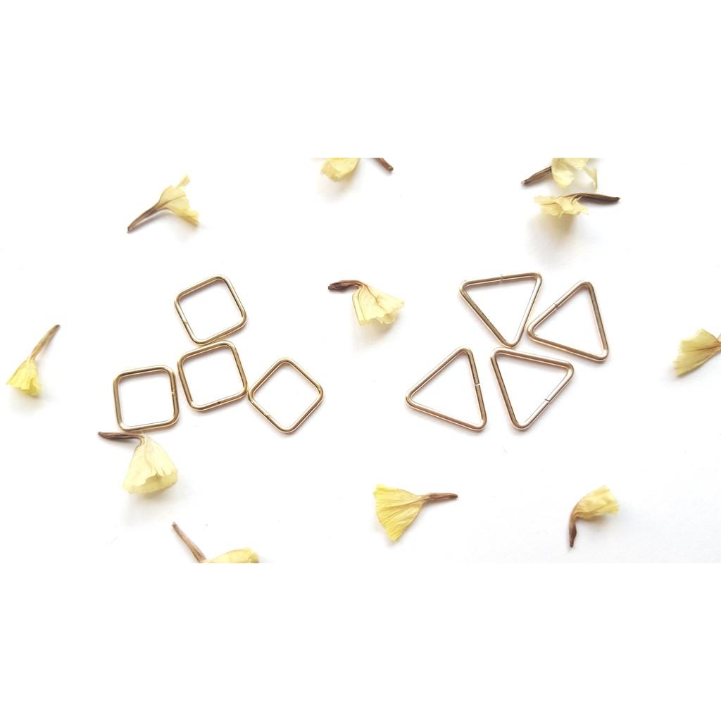 【Pure手作材料舖】美國14K包金 正方形(閉口)/三角形(開口/閉口) 連接環*2個 手鍊 材料 注金 14kgf