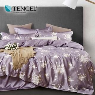 60支100%純天絲TENCEL【雙人 加大 特大組合】規格可選  兩用被床包四件組 七件式鋪棉床罩組 幽香如夢紫 台中市