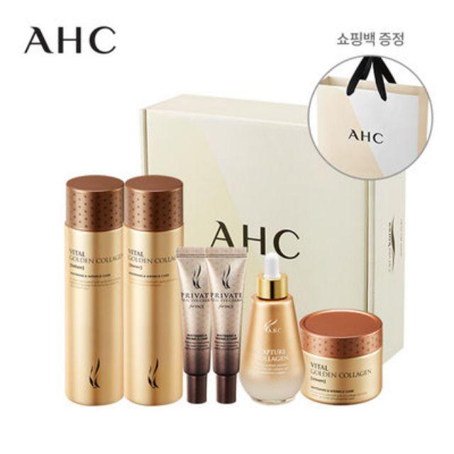 韓國 AHC 黃金膠原蛋白 保養組 化妝水 乳液 面霜 精華液 眼霜 禮盒組 膠原蛋白精華液 a.h.c
