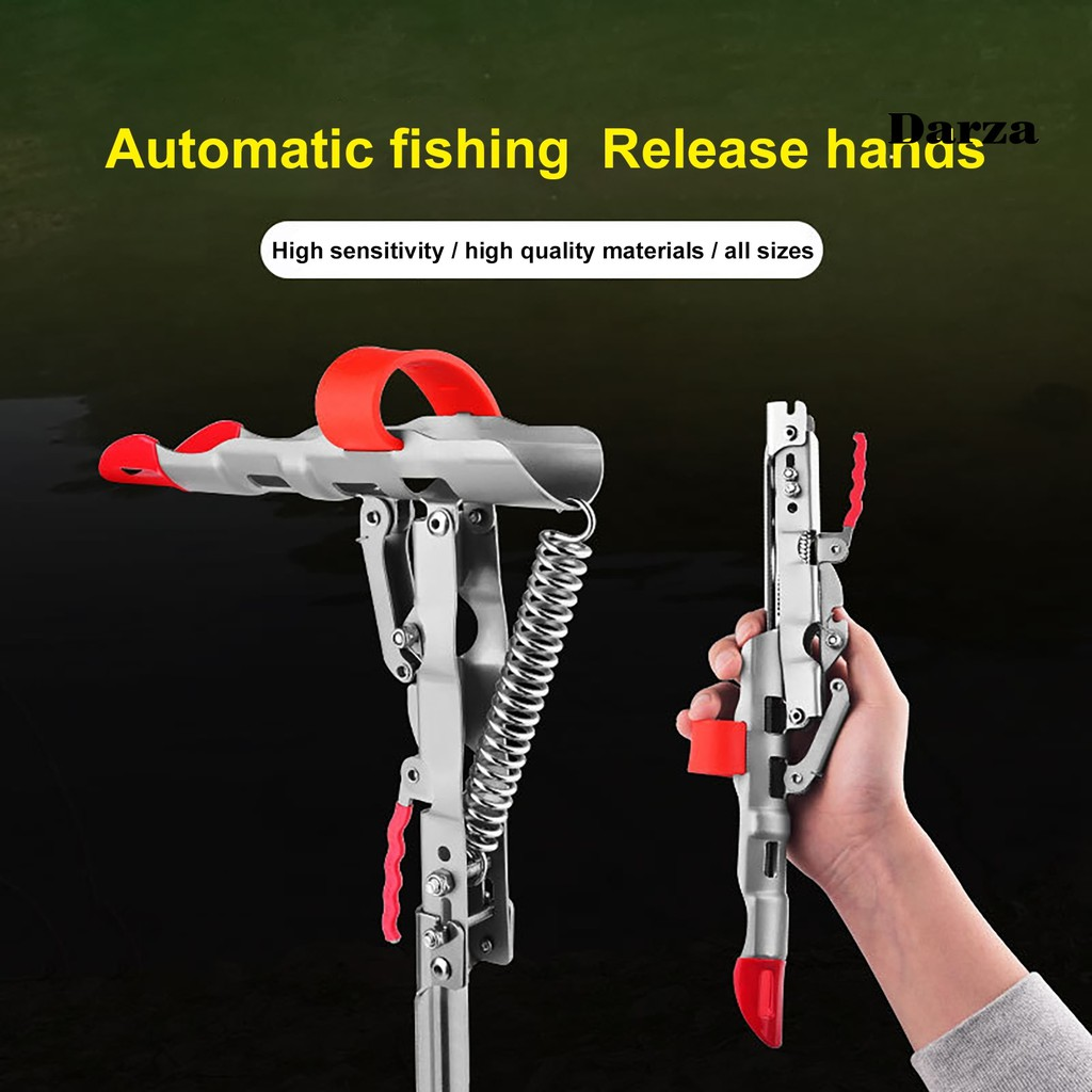 [Dar] 可折疊的不銹鋼高靈敏度彈簧支架支架釣魚工具