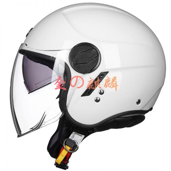 TORC頭盔春夏新款男女頭盔T595電動車半盔夏盔白色XL 機車 安全帽