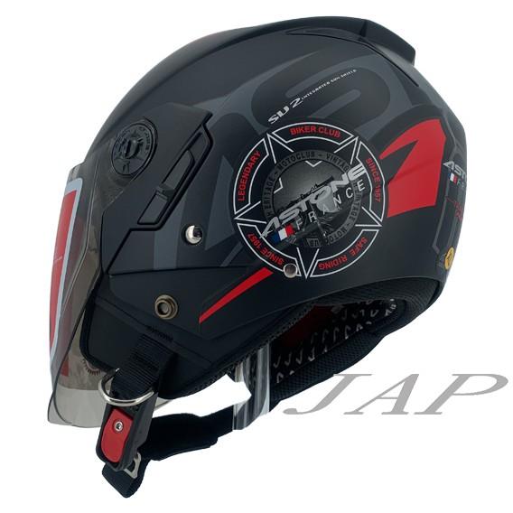 ASTONE RST  AQ5 平光黑紅 輕量四分之三 內墨鏡 半罩 安全帽