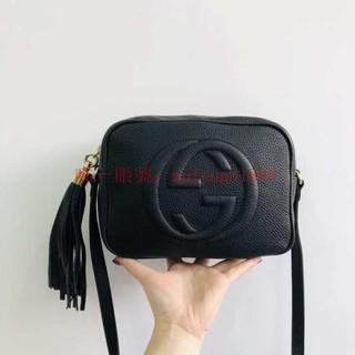 二手Gucci soho Disco bag 相機包 古馳黑色GG浮雕logo全皮流蘇相機包肩背包斜背包308364 屏東縣