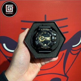 CASIO 卡西歐 G-SHOCK 防水防震手錶 金屬系雙顯手錶 經典黑金 運動鞋 機械錶 GA-400GB-1A9 桃園市