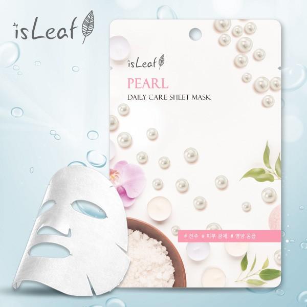 isLeaf 韓國極緻水感保濕面膜珍珠 22ml【貝拉美人】