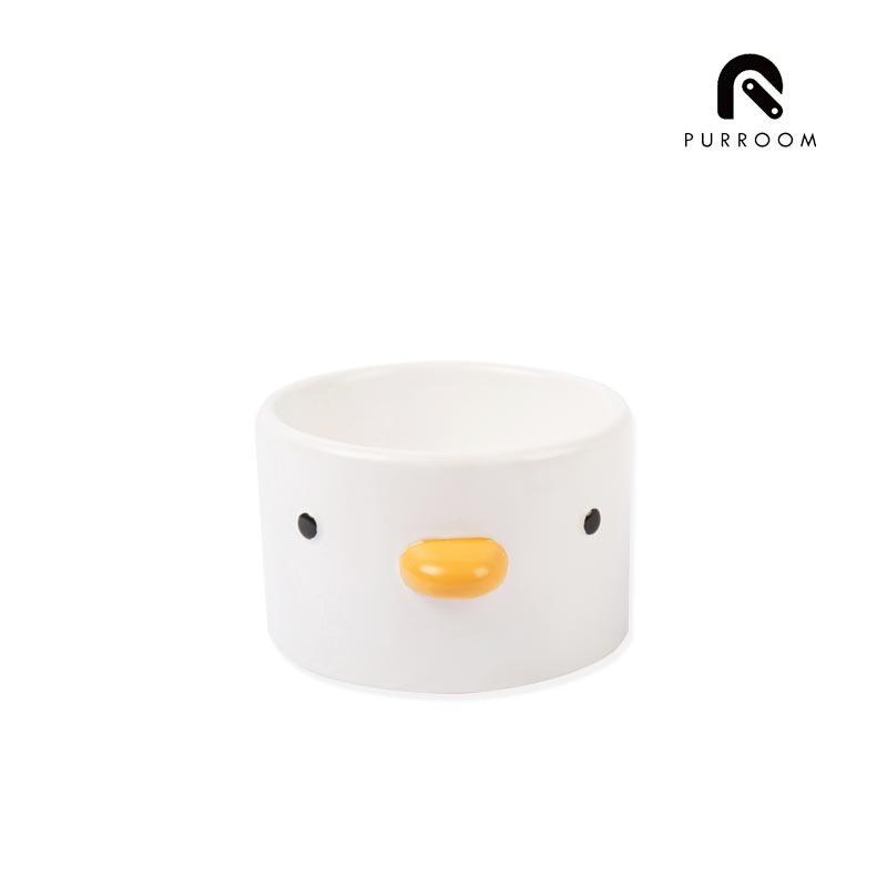 PURROOM 小雞陶瓷食盆 兩款 斜口 寵物碗 餐碗 貓用 也可裝水 趣味造型