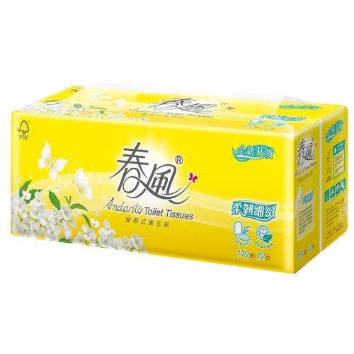 春風柔韌感抽取衛生紙110抽x12包x6串 72包 箱