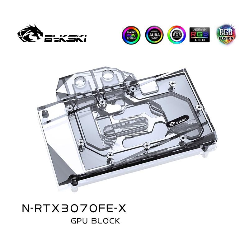 Bykski 水塊用於 Nvidia Geforce Rtx 3070 / Rtx 3060ti 創始版 Gpu 卡 /