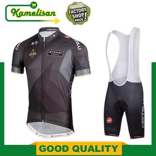 Kamelisan- Abu Dubai Tour 黑色騎行球衣圍兜短褲 Castelli 短褲騎行自行車褲自行車球衣