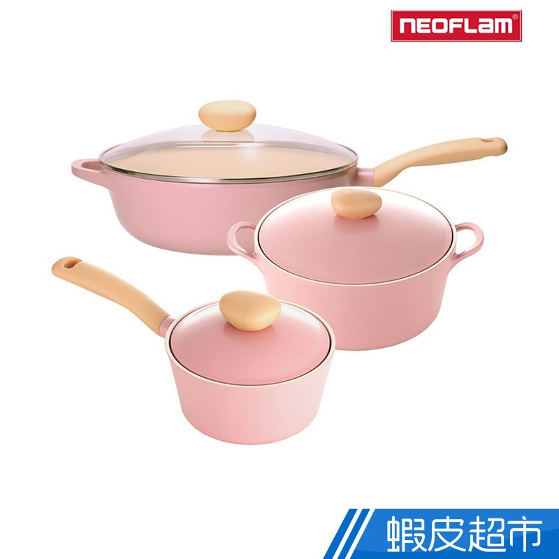 NEOFLAM 韓國原裝 Retro系列 公主鍋 超值三件組 炒鍋 湯鍋 廠商直送 現貨